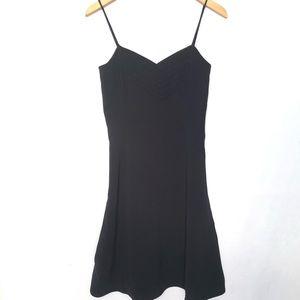 Emporio Armani Pleated Black Mini Dress Women's S